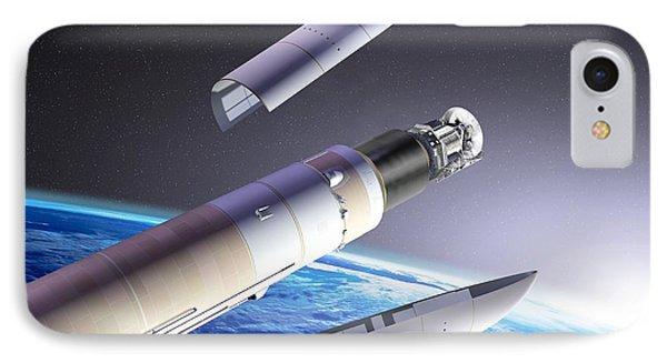 Planck And Herschel Launch, Artwork Phone Case by David Ducros