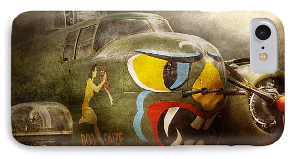 Plane - Pilot - Airforce - Dog Daize Phone Case by Mike Savad