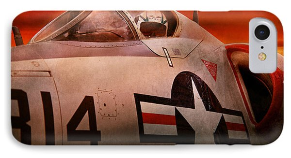 Plane - Pilot - Airforce - Go Get Em Tiger  Phone Case by Mike Savad