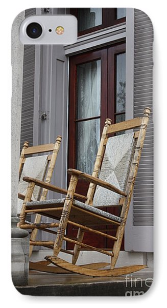 Plantation Rocking Chairs Phone Case by Carol Groenen