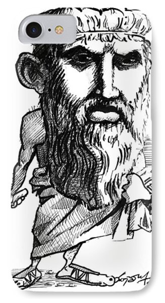 Plato, Caricature Phone Case by Gary Brown