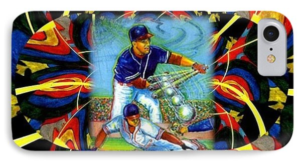Play Ball  Getting On Base IPhone Case by Ray Tapajna