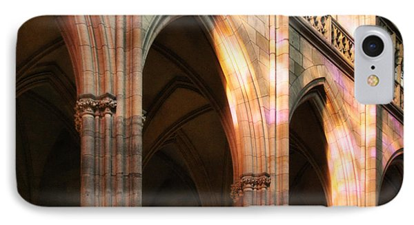 Play Of Light And Shadow - Saint Vitus' Cathedral Prague Castle Phone Case by Christine Till