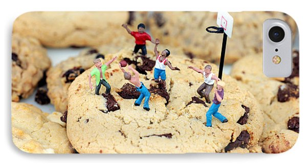 Playing Basketball On Cookies II Phone Case by Paul Ge