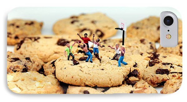Playing Basketball On Cookies Phone Case by Paul Ge