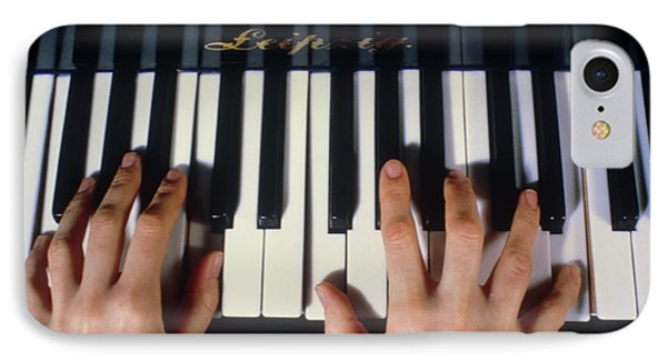 Playing The Piano. Phone Case by Damien Lovegrove