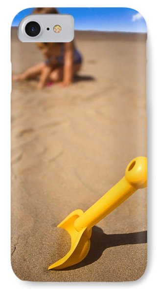 Playtime At The Beach Phone Case by Meirion Matthias