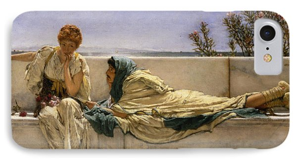 Pleading IPhone Case by Sir Lawrence Alma-Tadema