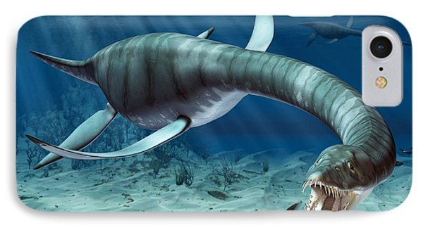 Plesiosaur Attack Phone Case by Roger Harris and Photo Researchers