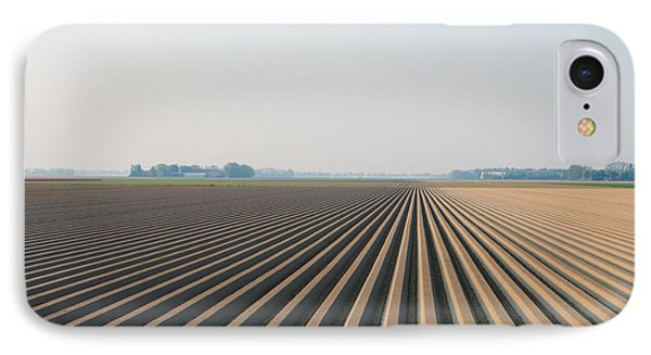 Plowed Field IPhone Case by Hans Engbers