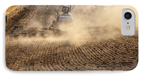 Plowing The Ground Phone Case by Mike  Dawson