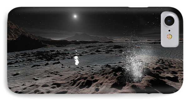 Pluto May Have Springs Of Liquid Oxygen Phone Case by Ron Miller