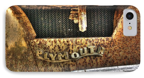 Plymouth Logo Relic IPhone Case by Dan Stone