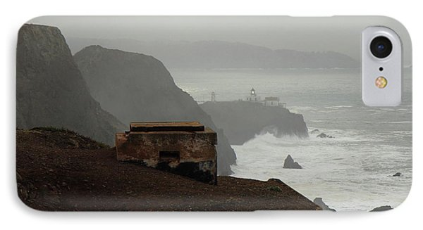 IPhone Case featuring the photograph Point Bonita Lighthouse And Battery by Scott Rackers