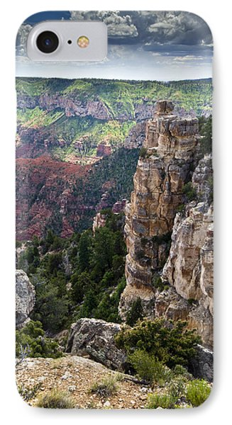 Point Imperial Cliffs Grand Canyon Phone Case by Gary Eason