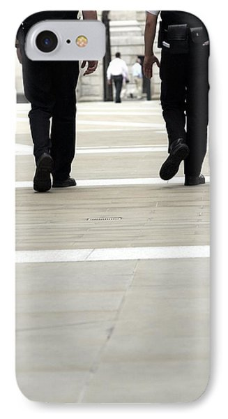 Police Officers Patrolling Phone Case by Tony Mcconnell