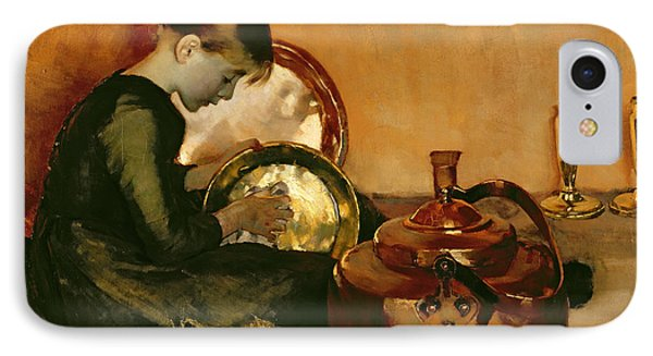 Polishing Pans  Phone Case by Marianne Stokes