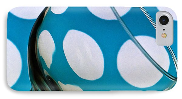 IPhone Case featuring the photograph Polka Dot Glass by Steve Purnell