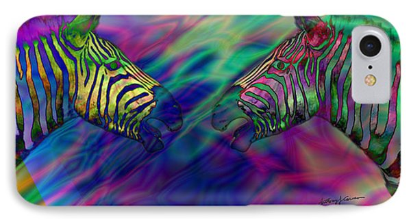 Polychromatic Zebras Phone Case by Anthony Caruso