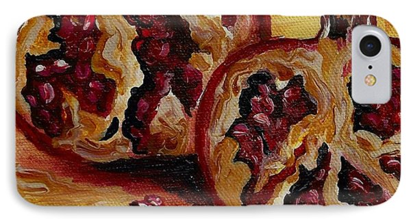 IPhone Case featuring the painting Pomegranate by Karen  Ferrand Carroll