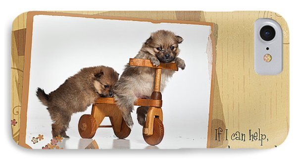 Pomeranian 1 Phone Case by Everet Regal