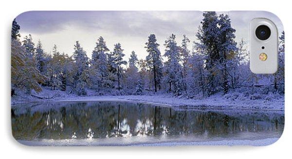Pond And Fresh Snowfall, Near 70 Mile Phone Case by David Nunuk