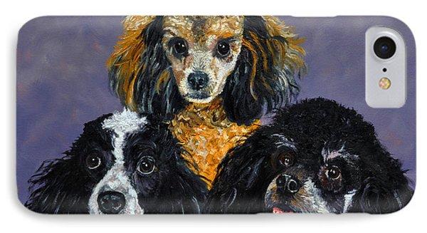 Poodles Phone Case by Stan Hamilton