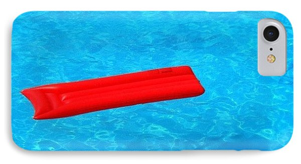 Pool - Blue Water And Red Airbed IPhone Case