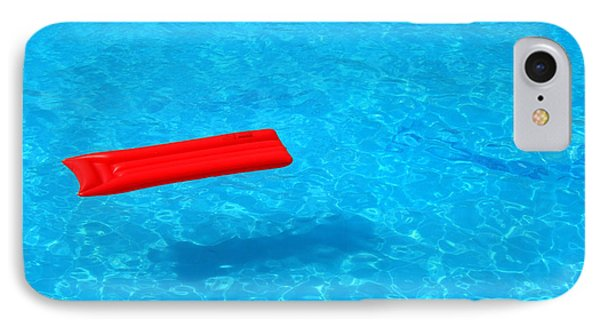 Pool - Blue Water And Red Inflatable Mattress Phone Case by Matthias Hauser