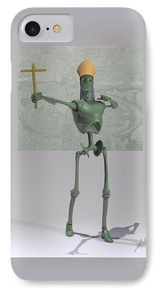 Pope Robot Green Plastic IPhone Case