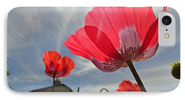 Poppies And Sky Phone Case by Robert Meyers-Lussier