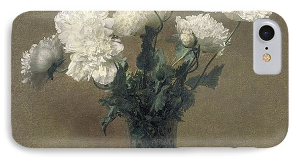 Poppies Phone Case by Ignace Henri Jean Fantin-Latour