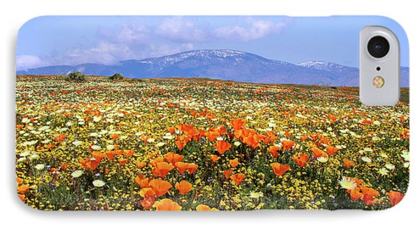 Poppies Over The Mountain IPhone Case by Peter Tellone