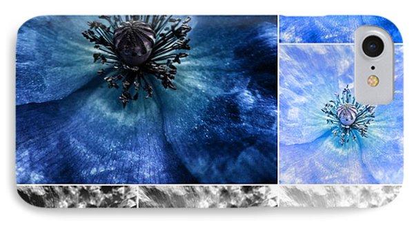 Poppy Blue - Macro Flowers Fine Art Photography IPhone Case