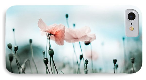 Poppy Flowers 02 IPhone Case by Nailia Schwarz