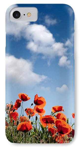 Poppy Flowers 04 IPhone Case by Nailia Schwarz