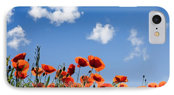 Poppy Flowers 05 IPhone Case by Nailia Schwarz