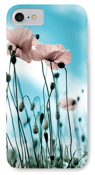 Poppy Flowers 09 IPhone Case by Nailia Schwarz