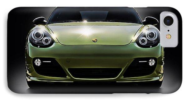 Porsche Cayman In Peridot Paint IPhone Case