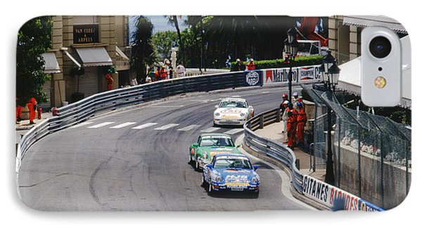 Porsches At Monte Carlo Casino Square Phone Case by John Bowers