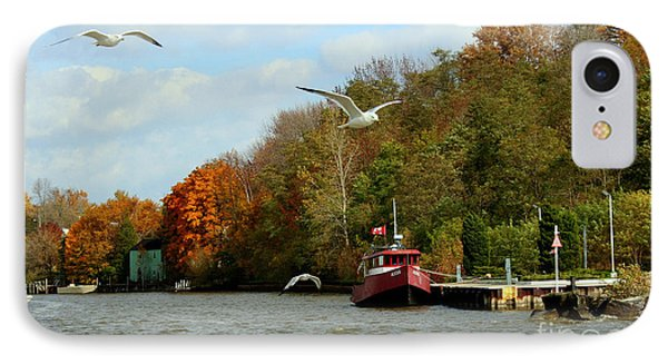 IPhone Case featuring the photograph Port Dover Harbour by Barbara McMahon