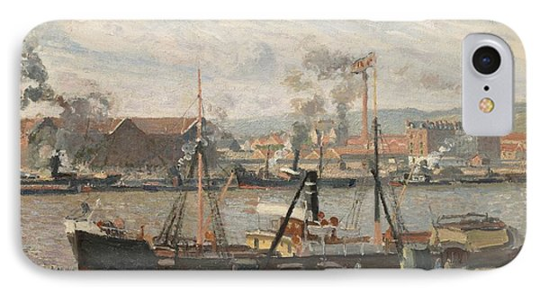 Port Of Rouen IPhone Case by Camille Pissarro