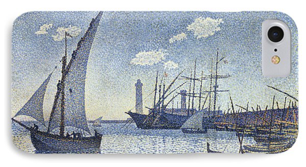 Porte De Cette Les Tartanes IPhone Case by Theo van Rysselberghe