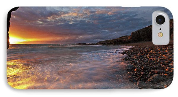 IPhone Case featuring the photograph Porth Swtan Cove by Beverly Cash