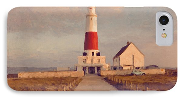 Portland Bill Lighthouse Center Phone Case by Nop Briex