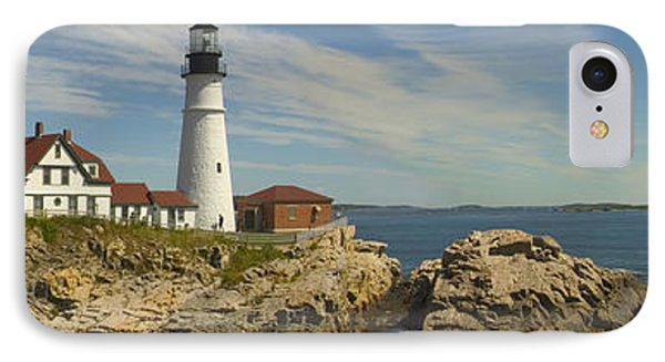 Portland Head Light Panorama  IPhone Case