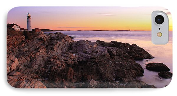 Portland Head Lighthouse Seascape Phone Case by Roupen  Baker