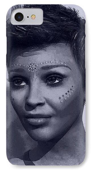 IPhone Case featuring the digital art Portrait by Maynard Ellis