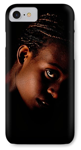 Portrait Of A Black Woman IPhone Case by Jim Boardman