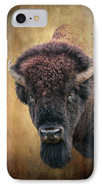 Portrait Of A Buffalo IPhone Case by Tamyra Ayles